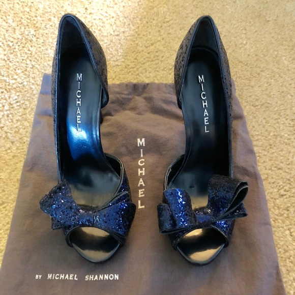 aae3cee703ad Michael Shannon Shoes | Nwto Michael Lolita Blue Sequins Pump ...